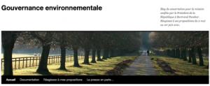 Blog de concertation sur la gouvernance environnementale (Bertrand Plancher)