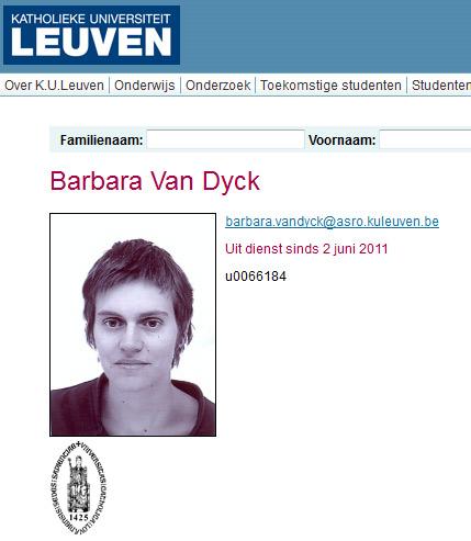 """Barbara Van Dyck : """"ne travaille plus avec nous depuis le 2 juin"""""""