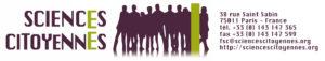 Logo Sciences Citoyennes avec coordonnées à droite (long, sans texture)
