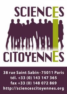 Logo Sciences Citoyennes (carré, avec coordonnées et sans texture)