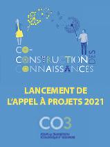 3e appel à projets de recherche participative CO3 (2021)